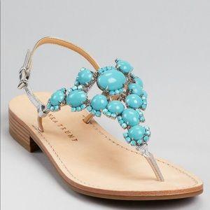 Ivanka Turquoise Sandals Size 6.5